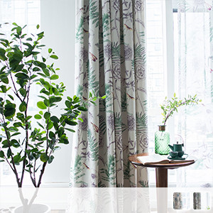 Set with lace, natural botanical print