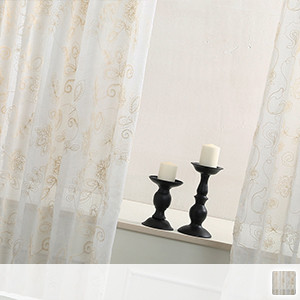 Elegant embroidered lace curtain