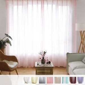 plain sheer curtains with linen mixed texture