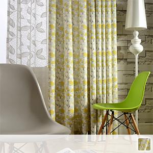 cute cotton printed drape curtains