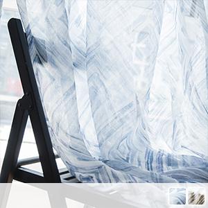 Modern watercolor geometric lace curtain