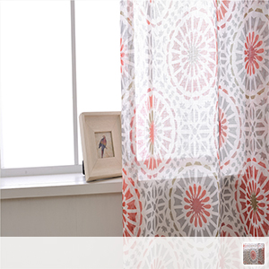 Bright fireworks pattern lace curtain