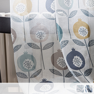 Pop and colorful floral lace curtains