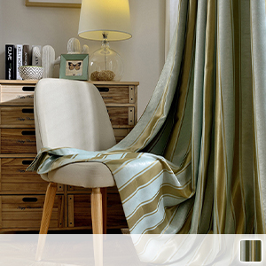 Drape curtains, simple striped pattern
