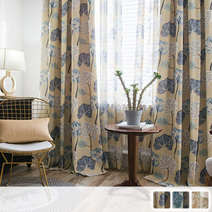 Nordic drape curtain with picture book touch