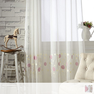 beautiful sheer curtains with embroidery and elegant touch