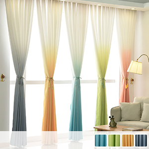 gradient drape and sheers, fashionable and beautiful curtains
