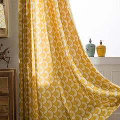 Scandinavian taste geometric pattern curtain
