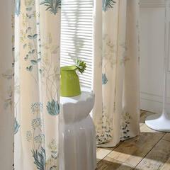 Scandinavian taste plant pattern curtain