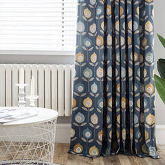 Pop and colorful floral curtains