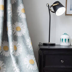 Neat and cute sunflower pattern curtain