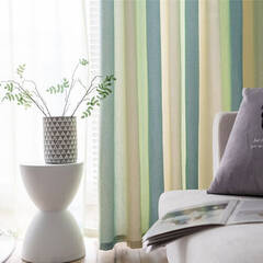 Beautiful striped curtains that flow smoothly