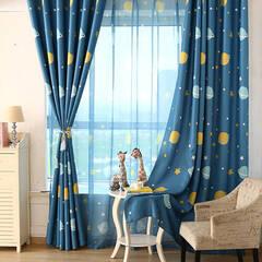 Cute planet design curtains