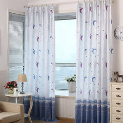 A curtain with a star-moon design that makes you feel like you can have a good dream