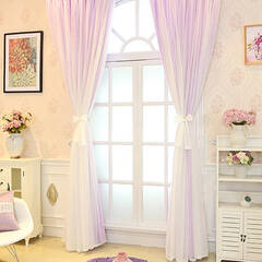 A princess with 5 soft colors Layered Curtains