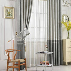 Linen touch curtain with a little astringency