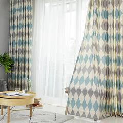 Argyle plaid curtain