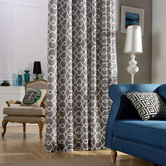 Modern Moroccan pattern curtains