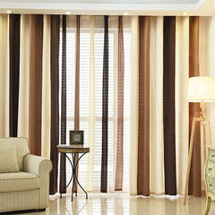 Border line curtain with American coloring