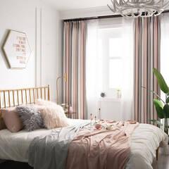 Feminine Morandi color coordination curtains