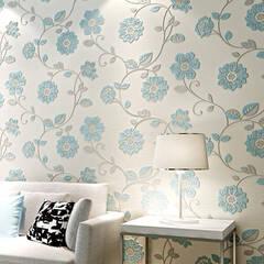 Fine embossed floral wallpaper sticker