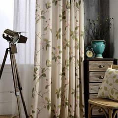 Elegant pale floral curtains