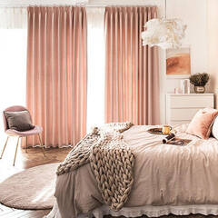 Plain curtains with a soft touch