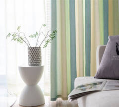 Beautiful striped curtains