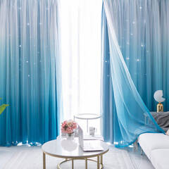 Carved star pattern set curtain