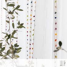 Colorful polka dots Sheer Curtains