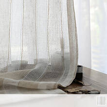 Sheer Curtains with a quaint striped pattern