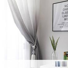 Calm gradation Sheer Curtains