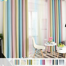Curtain Set with colorful stripes
