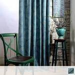 Curtain with indigo dyed texture