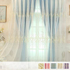 Drape and embroidery lace integrated curtain