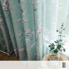 Pretty floral curtains