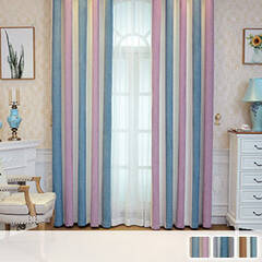 Colorful striped curtains