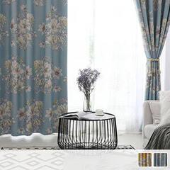 Scandinavian floral curtains