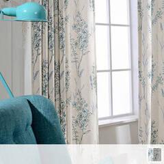 Elegant floral curtains