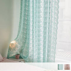 Embroidered arabesque floral Sheer Curtains