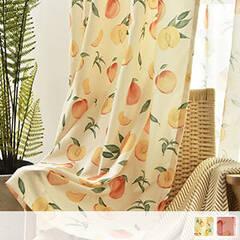 Fresh peach pattern curtain